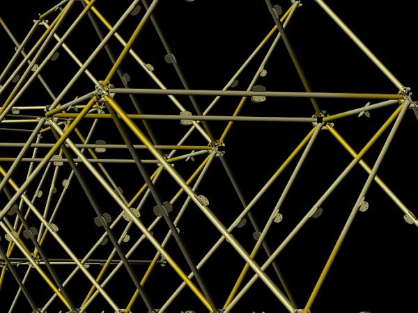 Archinoma, Shelest joint, architectural construction set, fractal architecture, metal space truss, узел Шелеста, фрактальная архитектура, металлическая пространственная ферма