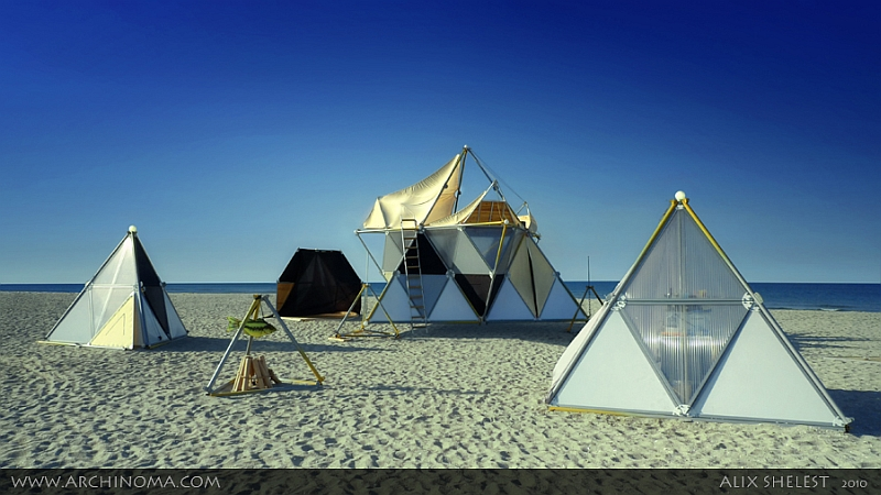 Tags nomad village archinoma light architecture of for Architecture nomade