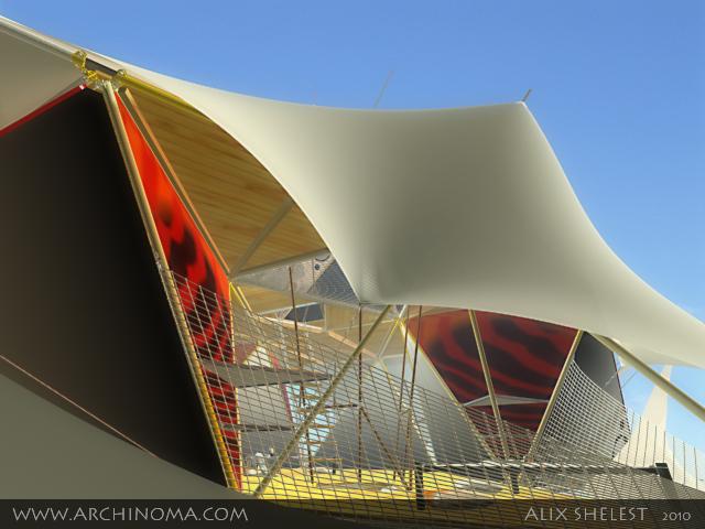 Y-DART : aerial campus. Interior and exterior